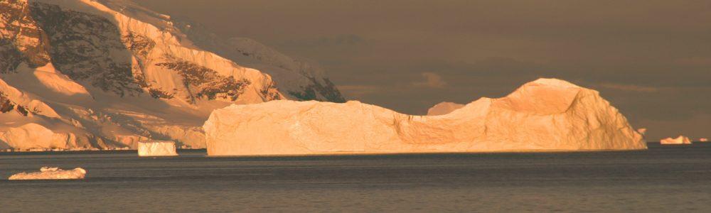 Eisberge Licht